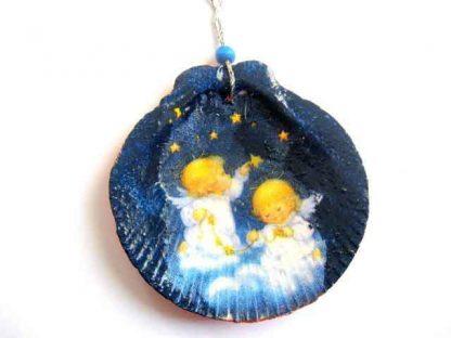 Ornament ingerasi, ornament de tip glob din sidef impodobire brad 29861