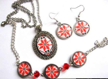 Set bijuterie colier, pandantiv, bratara si cercei, set bijuterie femei 29882