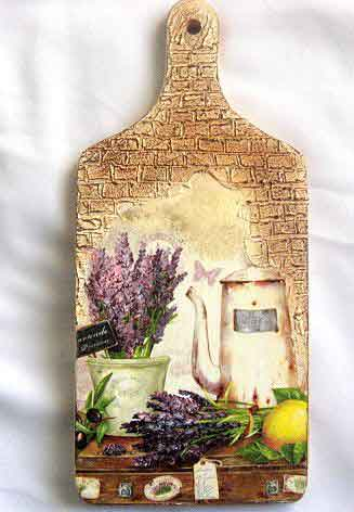 Tablou bucatarie, tablou lemn cu flori de levantica, ceainic si lamaie 29825