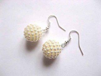 Bijuterie cu perle artificiale, pereche de cercei cadou femei 30181