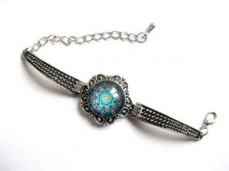 Bratara mandala culori albastru, rosu si galben, bijuterii cadou femei 29971