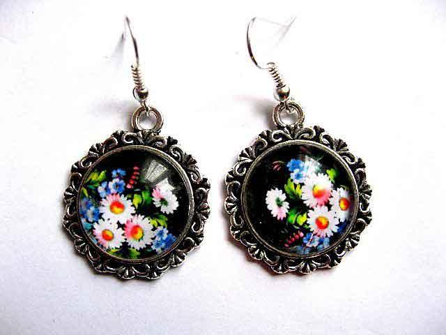 Cercei cu model floral, bijuterie cadou femei 30208