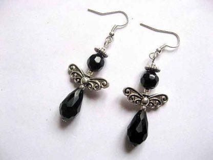 Cercei negri, bijuterii simple si de efect, bijuterii cadou femei 30184