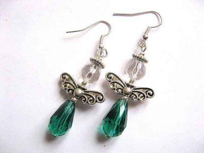 Cercei Cercei verde cu alb, bijuterie simpla si de efect, bijuterie cadou femei 30186verde cu alb, bijuterii simple si de efect, bijuterii cadou femei 30186