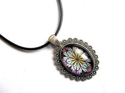 Pandantiv cu design frunze stilizate, colier si pandantiv bijuterie femei 30046