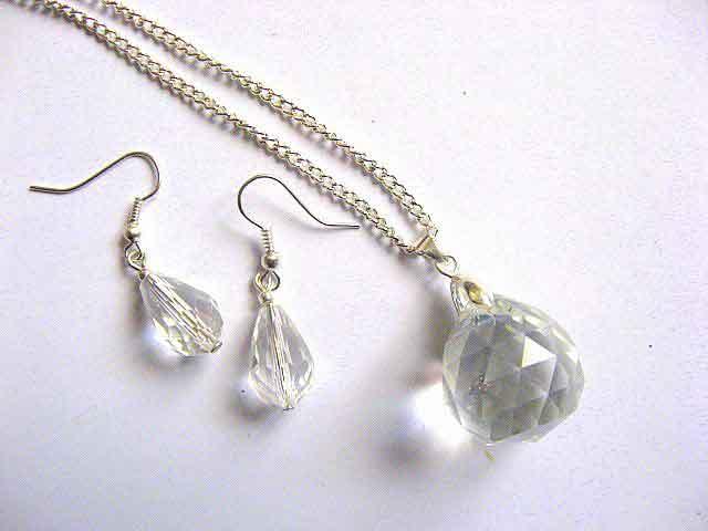 Set bijuterii cristale, set colier si cercei cadou femei 30044