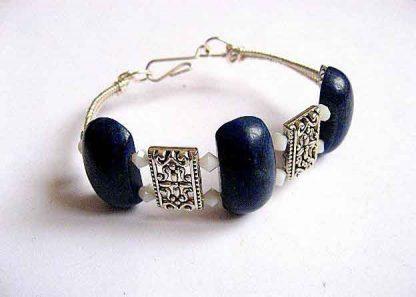 Bratara culoare albastra, bratara lapis lazuli pietre semipretioase si cristale 30294