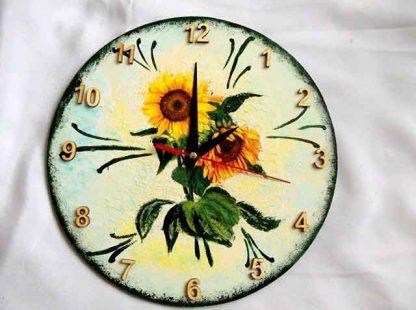 Ceas perete floarea soarelui 31882 pictat cu acrilice