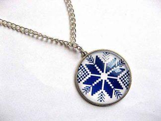 Colier cu pandantiv cu motiv traditional, bijuterie cadou femei 30290