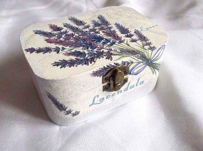 Cutie cu flori de lavanda, cadou cutie bijuterii femei 31915