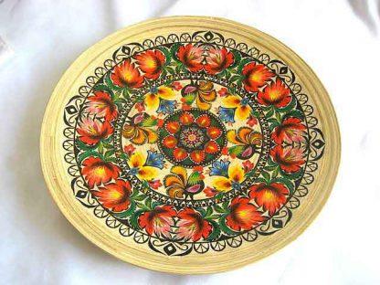 Platou design cocosi si flori in culori vii, platou model 27309 poza 1