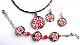 Bijuterii femei cu motiv traditional, simbolul crucii model 32290