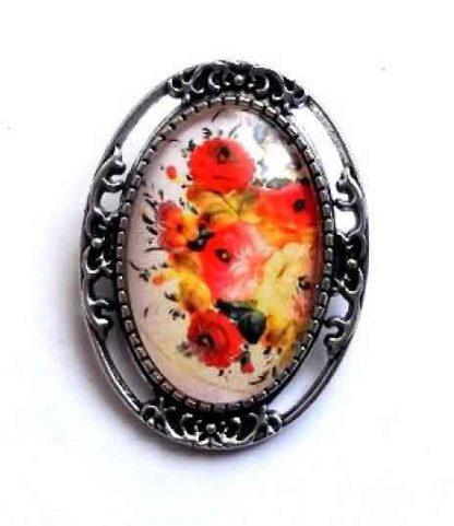 Brosa cadou, brosa cu model floral 32240