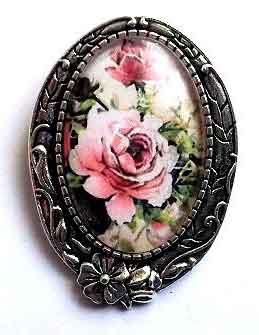 Brosa cu trandafiri roz, brosa femei model 32245