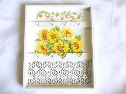 Cuier floare soarelui, cuier chei model floral 32464