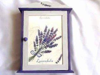 Dulapior flori lavanda, culoare mov, dulapior chei 32087 poza exterior