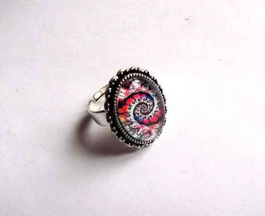 Inel cu spirala multicolora, inel reglabil 32404