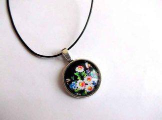 Pandantiv cu motiv floral, colier cu pandantiv 32439