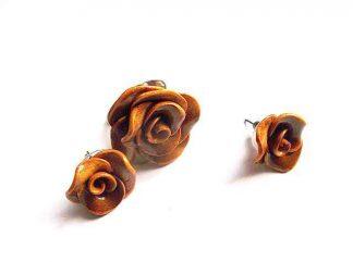 Inel reglabil si cercei, set fimo cadou femei 32366