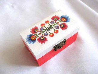 Cutiuta motiv traditional flori stilizate, cutie model 27902