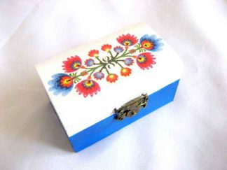 Motiv traditional flori stilizate, cutiuta lemn 27903