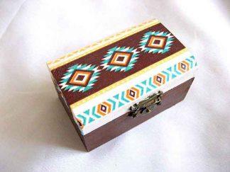 Motiv traditional, modele geometrice, cutie lemn 27904