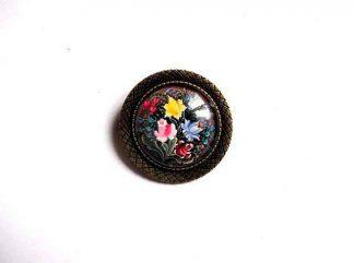Bijuterie femei pandantiv cu flori, pandantiv rotund 32375