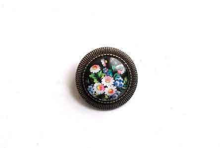 Brosa de agatat in piept, brosa cu model floral 32281