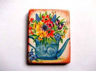 Buchet de flori in stropitoare, magnet frigider 32565