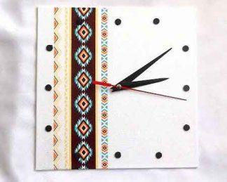 Ceas cu elemente traditional romanesti, ceas lemn pentru perete 32036