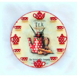 Ceas ora de ceai, tea time - The Victory Tea Company, ceas de perete 1528