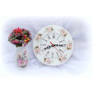 Ceas pentru momente romantice, ceas romantic roses, ceas de perete 8576