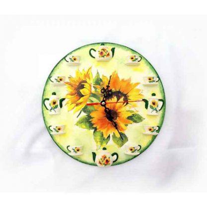 Ceas perete cu elemente tridimensionale, ceas cu floarea soarelui 131537