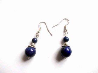 Cercei pietre mov, bijuterie cadou pietre lapis lazuli 32902