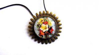 Colier sau brosa cu model floral, bijuterie femei 32223