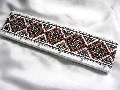 Cuier cani de cafea, cani de ceai, chei, bijuterii, cuier lemn motiv traditional 28866