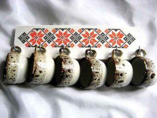Cuier cani de ceai, cani de cafea, chei, bijuterii, cuier lemn 28864 cu cani
