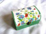 Cutie cu flori campenesti si fluturi, cutie bijuterii femei 27411