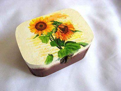 Cutie decorativa floarea soarelui, cutie depozitare bijuterii 27360