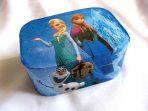 Cutie desene animate Frozen, printese Anna si Elsa, omul de zapada Olaf, cutie lemn 27812
