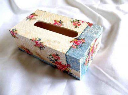 Cutie servetele cu model floral, cutie de lemn pentru servetele 32523