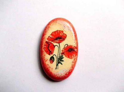 Decoratiune frigider cu maci rosii, magnet frigider 32558