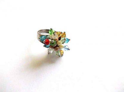 Inel reglabil femei, inel cu cristale 32476