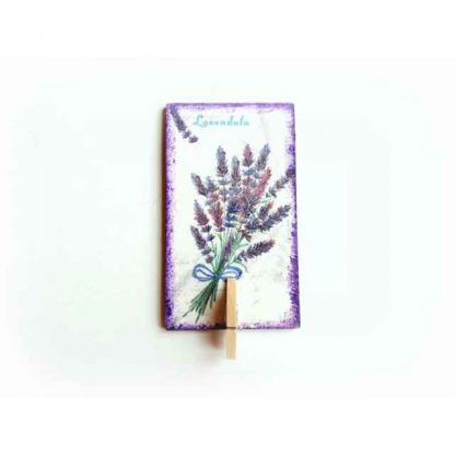 Magnet cu buchet de lavanda, magnet din lemn cu cleme din lemn 131413
