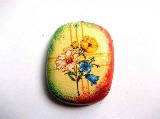 Magnet decorativ frigider, magnet cu model floral 32566