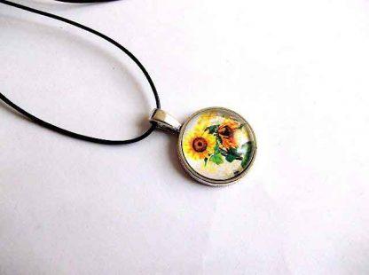 Pandantiv cu floarea soarelui, bijuterie femei floarea soarelui 32435