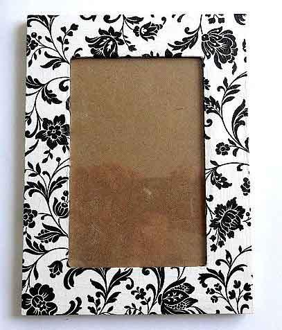 Rama cu elemente florale negre, rama fotografie 32483