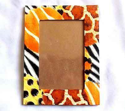 Rama foto cu model gen blana de leopard, rama foto de lemn 32210