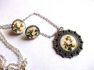 Set cu buchet de trandafiri galbeni, bijuterie set 32502