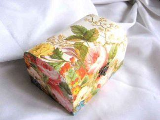 Cutie cu design de flori si frunze, cutie de lemn pentru bijuterii 25438